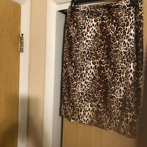 Leopard skirt size 12! Nice NWT!